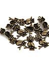 Vintage charmes de hibou de bronze en alliage de 10 PCs / Sac