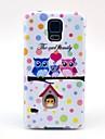 Modèle assez Owl Cartoon famille TPU Soft Case pour Samsung Galaxy I9600 S5