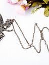 Vintage Dancing Girl Alloy Pendant Necklace (1 Pc)