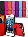 Elegant PU Leather Case for iPhone 5C (Assorted Colors)