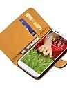 Бумажник из натуральной кожи для LG G2 крышки мобильного телефона Новое прибытие
