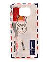 Retro Envelope Pattern Hard Case for Samsung Galaxy S2 I9100