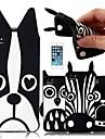 iPhone5/5S를위한 만화 동물 패턴 실리콘 케이스 (분류 된 색깔)