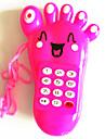 전기 음악 장난감 이동 전화 발은 모양 (색상 랜덤)