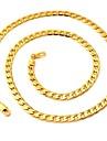 Ожерелье Ожерелья-цепочки Бижутерия Свадьба / Для вечеринок / Повседневные Модно Позолота Серебряный 1шт Подарок