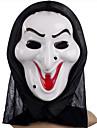 White Witch masque à tête couverture Joke Gadgets Cosplay effrayants pratiques pour Halloween Costume Party