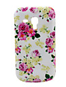 삼성 갤럭시 동향 중창 S7562를위한 장미 꽃 패턴 하드 케이스