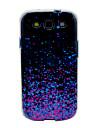 갤럭시 S3 I9300를위한 자주색 빛나는 장식 조각 패턴 TPU 연약한 상자 덮개