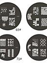1 조각 M 시리즈 둥근 추상 디자인 못 예술 우표 스탬프 이미지 템플릿 플레이트 NO.69-72 (분류 된 패턴)