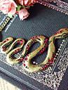 Европейский Золотой Змея Форма сплава ожерелье (1 шт)