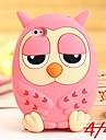 Cute Owl Silicone Cases for iPhone 4/4S (Assorted Colors)