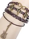 bracelet brun enveloppe en cuir de shixin® 18cm de guitare européens les femmes (1 pc)