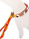 Ruban de verre de bracelet de diamant orange