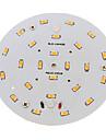10W Потолочный светильник 24 SMD 5730 800-900 lm Тёплый белый Декоративная AC 100-240 V