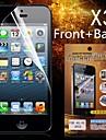 Frente de Proteção HD + Back protetor de tela para iPhone 4/4S (3PCS)