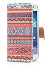 Aztec Tribal Style Leather Case with Card Slot and Stand for Samsung Galaxy S4 Mini i9190