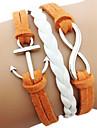 Retro Joker Anchor 8-Word Multi-Layer Leather Rope Bracelet