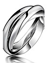 Ring Party / Daily / Casual Jewelry Titanium Steel Women Couple Rings / Midi Rings5 / 6 / 7 / 8 / 9