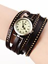 Women's Vintage Roma Dial Long Strap Leather Band Quartz Analog Wrist Watch (Assorted Colors) Cool Watches Unique Watches