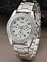 Mulheres Relógio de Moda Quartzo Aço Inoxidável Banda Brilhante Prata Dourada marca