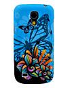 Bleu Backgroud papillon et Soft Case Motif couverture arrière de fleur TPU pour Samsung Galaxy S4 Mini I9190