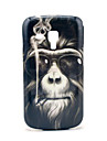 Fumar Macaco Padrão Hard Case para Samsung Galaxy Tendência Duos S7562