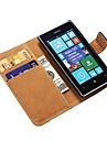Véritable Housse en cuir pour Nokia Lumia 520 Stand avec titulaire de la carte de crédit de la nouvelle arrivée