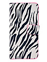 Zebra-Stripe Pattern Full Body Leather Tpu Case for iPhone 5C