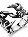 Кольца В форме черепа Для вечеринок Повседневные Новогодние подарки Бижутерия Нержавеющая сталь Циркон Мужчины Классические кольца8 Черный