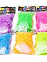 радуга красочные ткацкий станок стиль Noctilucence резинкой (600 шт полосы + 24 шт С или S клипы)