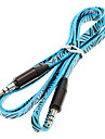 1M 3.3FT Noodle Flat Auxiliary Aux Audio Cable 3.5mm Jack Male to Male Cable