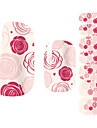 28PCS 핑크 로즈 디자인 못 예술 스티커