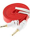 1M 3.3ft Лапша плоским Вспомогательные Aux аудио кабель 3,5 мм между мужчинами Cord