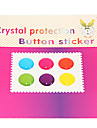 Joyland Candy Color Pure Color Button-Sticker for iPhone/iPad/iTouch (6 Pack)