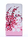 Plum Flower Pattern PU Leather Full Body Case for LG Optimus L5 II/E460