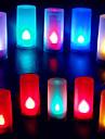 coloré en forme de flamme de bougie abs mené la lumière de nuit pour le festival de Noël Halloween