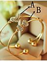 여성 테니스 팔찌 유니크 디자인 패션 도금 골드 사랑 보석류 용 결혼식 파티 일상 캐쥬얼 1PC