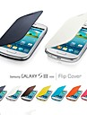 Flip Folio PU Case for Samsung Galaxy SIII mini I8190 (Assorted Colors)