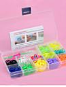 Z&x® радуга красочные ткацкий станок стиль 600pcs полос, 25pcs C или серы клипы, 1 маячит 1 крюк + 1 бокс