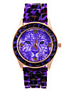 Leopard Motif de femmes cadran de bande de silicone de quartz analogique montre-bracelet