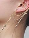 Vintage Forme de Croix Boucles d'oreilles pendantes en alliage (1 PC)