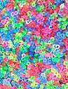 инструменты или амулеты для радужной красочные ткацкий станок цветных з-клипов DIY разъем резинкой (1000 шт)