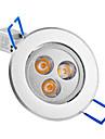 3W LED Recessed Lights / LED Ceiling Lights Recessed Retrofit 3 High Power LED 250 lm Warm White AC 85-265 V