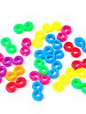des outils ou des charmes pour Rainbow loom coloré couleur s-clips bricolage connecteur en caoutchouc bande de crochet (24 pcs)
