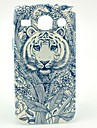 Flower Pattern Tattoo Tiger Hard Case para Samsung Galaxy Núcleo I8262