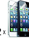 [2 pacotes] de alta qualidade fosco anti-reflexo Protetores de tela para iPhone 5/5S