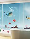 акула рисунок стикер стены (1шт)