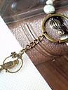 Vintage Bronze oiseaux forme ronde Porte-clés (1 PC)