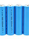 5000mAh батареи 18650 (4шт) + 4 шт / лота жесткого пластика батареи Коробка для хранения для аккумуляторов 18650