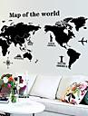 Карта мира шаблон наклейки (1шт)